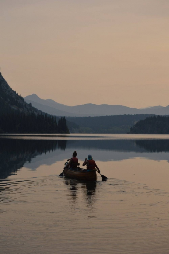 Get there peacefully in a canoe